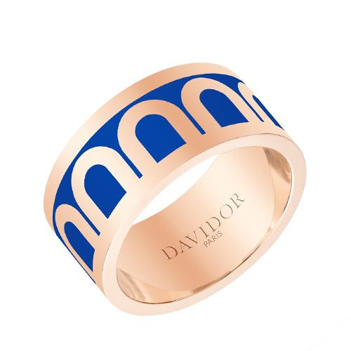 L'Arc de DAVIDOR Ring GM, 18k Rose Gold with Lacquered Ceramic