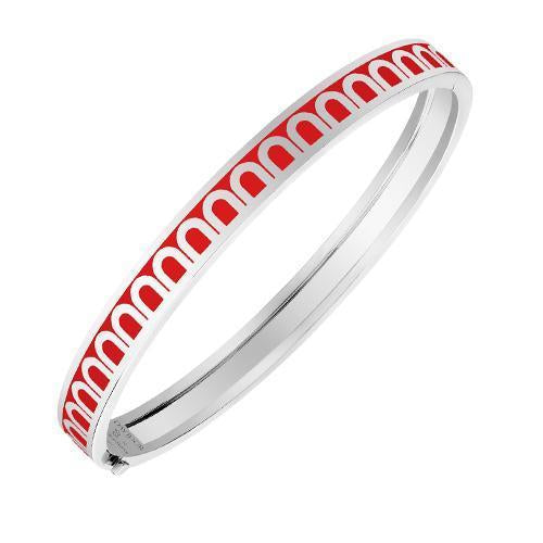L'Arc de DAVIDOR Bangle PM, 18k White Gold with Lacquered Ceramic