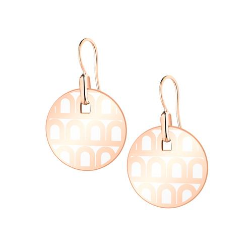L'Arc de DAVIDOR Pendant Earring PM, 18k Rose Gold with Lacquered Ceramic