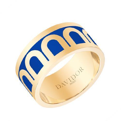 L'Arc de DAVIDOR Ring GM, 18k Yellow Gold with Lacquered Ceramic