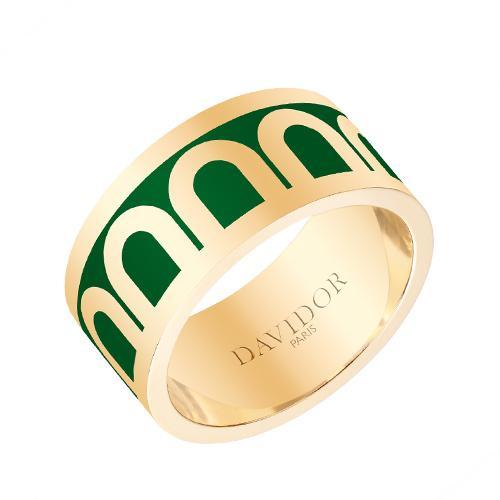 Men's L'Arc de DAVIDOR Ring GM, 18k Yellow Gold with lacquer