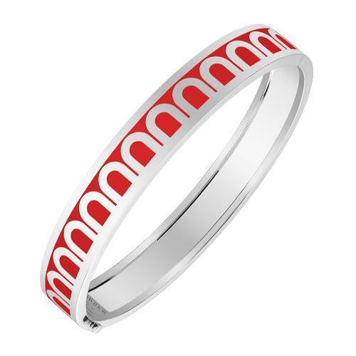 L'Arc de DAVIDOR Bangle MM, 18k White Gold with Lacquered Ceramic