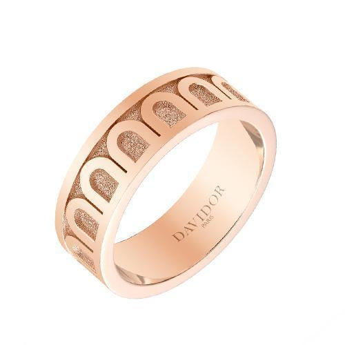 Men's L'Arc de DAVIDOR Ring MM, 18k Rose Gold with Satin Finish