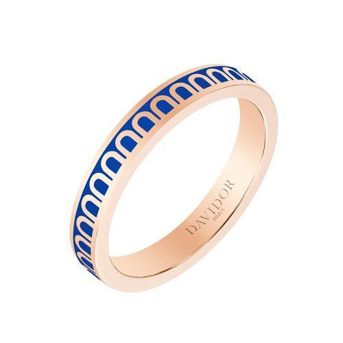 L'Arc de DAVIDOR Ring PM, 18k Rose Gold with Lacquered Ceramic
