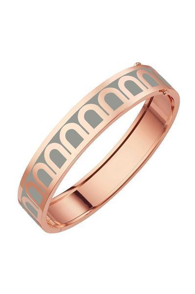 L'Arc de DAVIDOR Bangle GM, 18k Rose Gold with Lacquered Ceramic