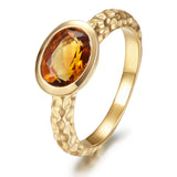 Wave citrine ring