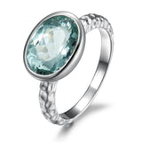 Wave aquamarine ring