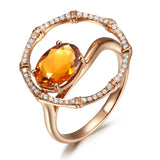Bouquet citrine diamond ring