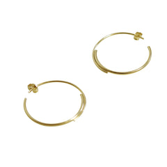 Gold-filled Large Hoops