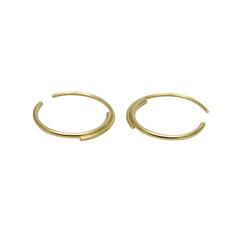 Gold-filled Petite Hoops