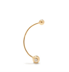 The Curve Diamond Earring