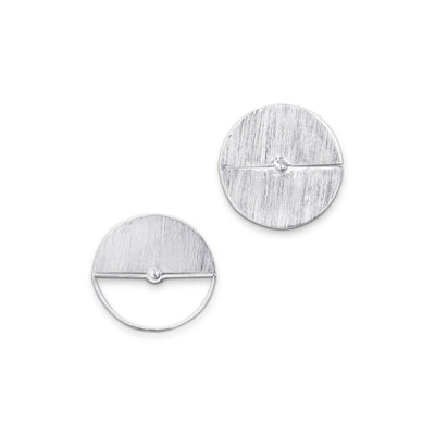 Full Moon and Half Moon Earrings