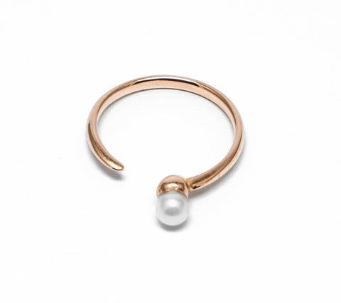 . Pearl tail open ring