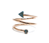 .Swirl gem arrow ring