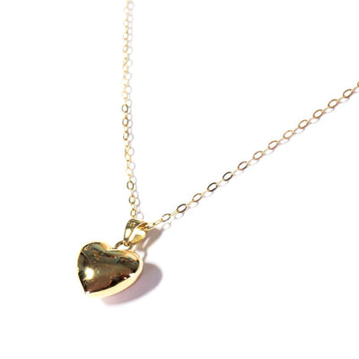.LYC 14K gold heart necklace