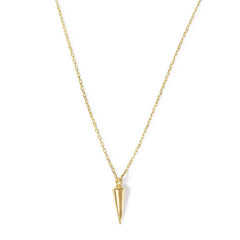 .LYC 14K gold spike necklace