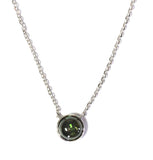 White gold green tourmaline necklace