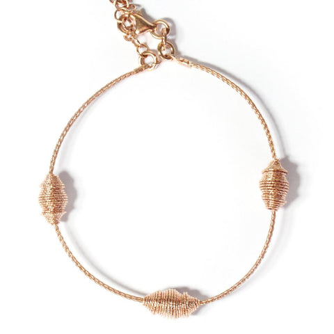 .FE-EVER 18K rose gold plated cocoon bracelet