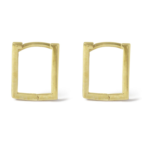 . LYC 14K gold rectangle ear huggies