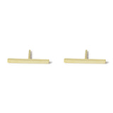 . LYC 14K gold solo bar ear studs