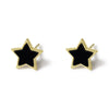 LYC 14K gold agate star ear studs