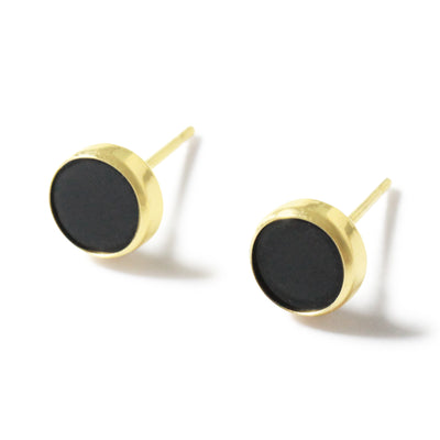 14K Agate Ear Studs - MOVIDA