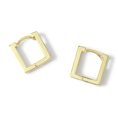 LYC 14K gold square ear huggies