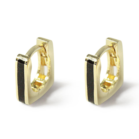 LYC 14K gold noir ear huggies