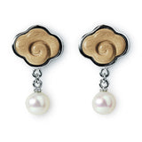 Over The Clouds sandalwood pearl earrings