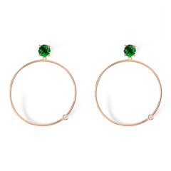 .Follow Me tsavorite diamond hoop earrings