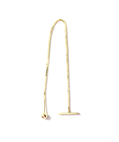 .LYC 14K gold bar ear threader