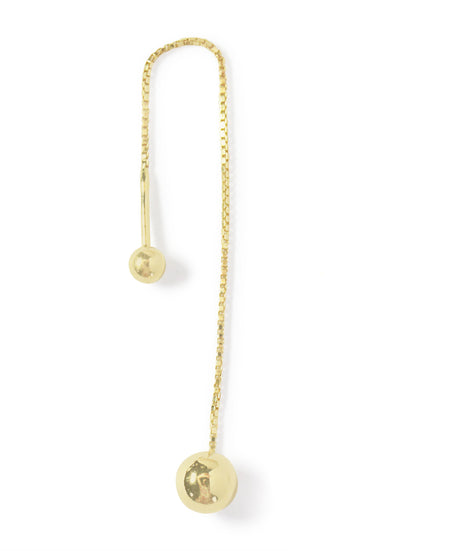 .LYC 14K gold orb ear threader