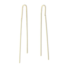 . LYC 14K gold ear threaders