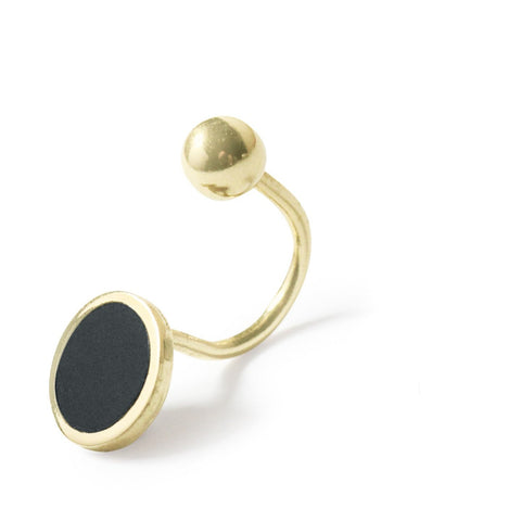 .LYC 14K gold noir ear cuff