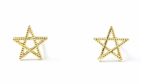 14K Star Studs - MOVIDA