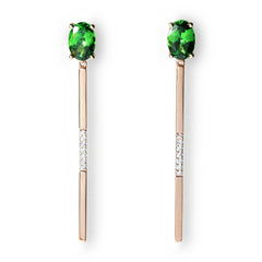 Follow Me tsavorite diamond earrings
