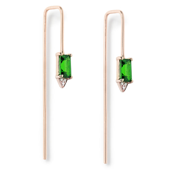 Follow Me tsavorite diamond hook earrings