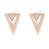 . FE-EVER diamond gold arrow earrings