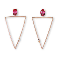 Alma rubellite diamond earrings