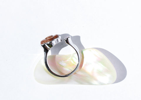 Over The Clouds sterling silver sandalwood ring