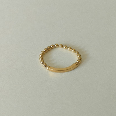 14K Soft Bead Ring - MOVIDA