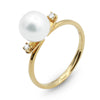 .Venus Akoya pearl diamond ring