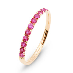 Pavé ruby ring