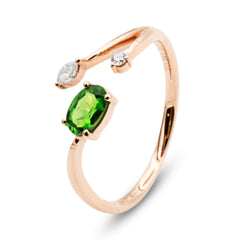Follow Me tsavorite diamond ring
