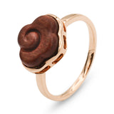 Over The Clouds gold sandalwood ring