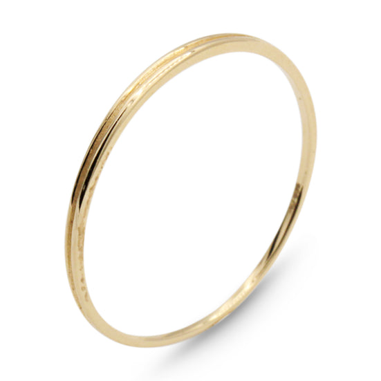 .LYC 14K gold solo line ring
