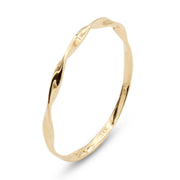 14K Twist (Midi/Pinky) Ring - MOVIDA