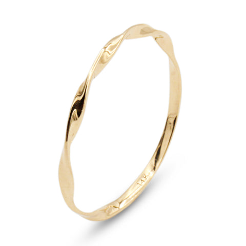 .LYC 14K gold twist ring