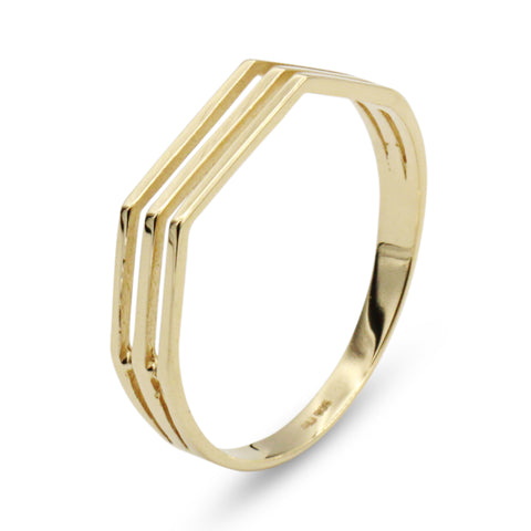 14K Hexa Ring - MOVIDA