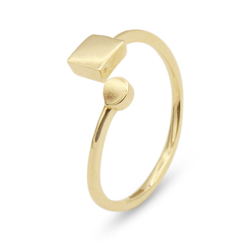 14K Geometric Open Ring - MOVIDA